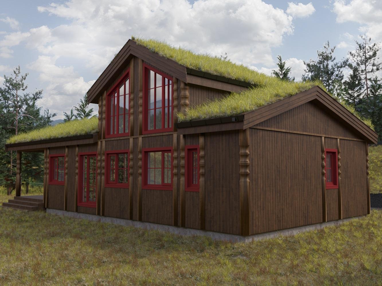 Экстерьер дома для строительной компании Pro-Nor  в Норвегии (Дом 1)