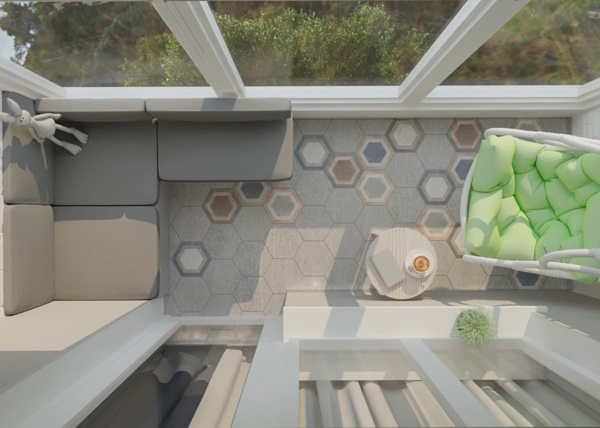 Дизайн проект 3-х комнатной квартиры (Балкон )