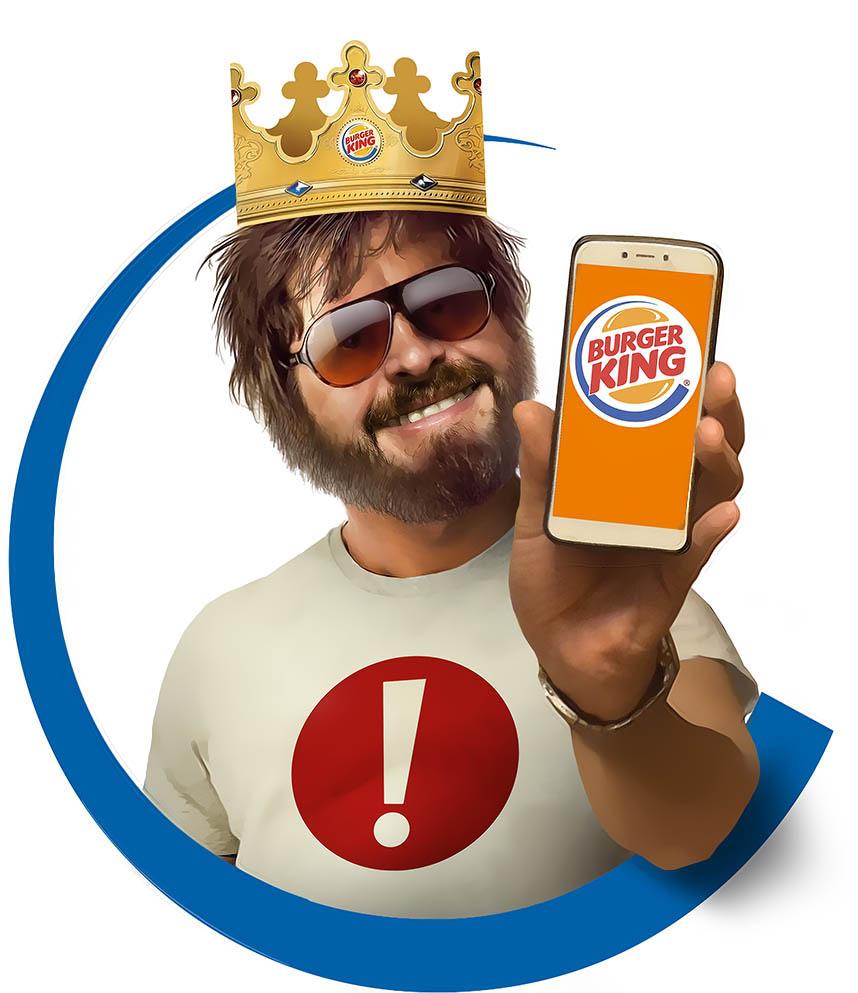 Иллюстрация для Бургер Кинг-Мальчишник