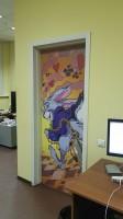 Оформление офиса в комикс-стиле Алиса в стране чудес