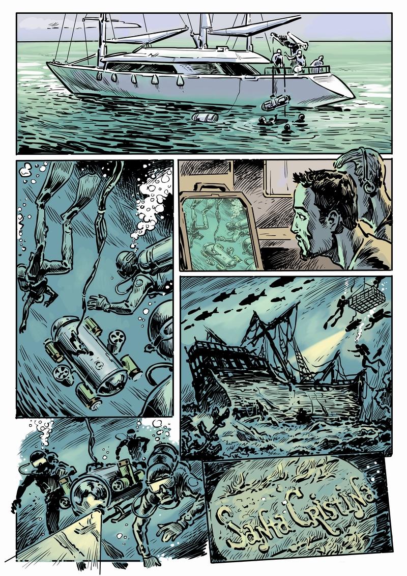 Отрывок комикса к фильму Человек-амфибия для ООО Трикита Энтэртэймент