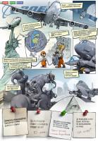 Комикс про Боинг в реалистичном стиле