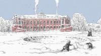 Эскиз рисунка усадьбы Семеновское-Отрада