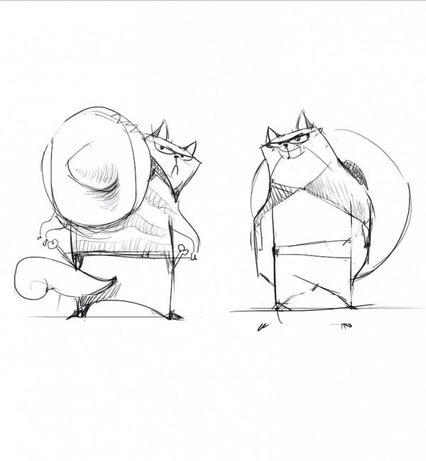 Эскизы серии упаковок собачьих кормов