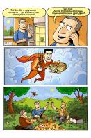 Комикс для грузинского ресторана про супермена