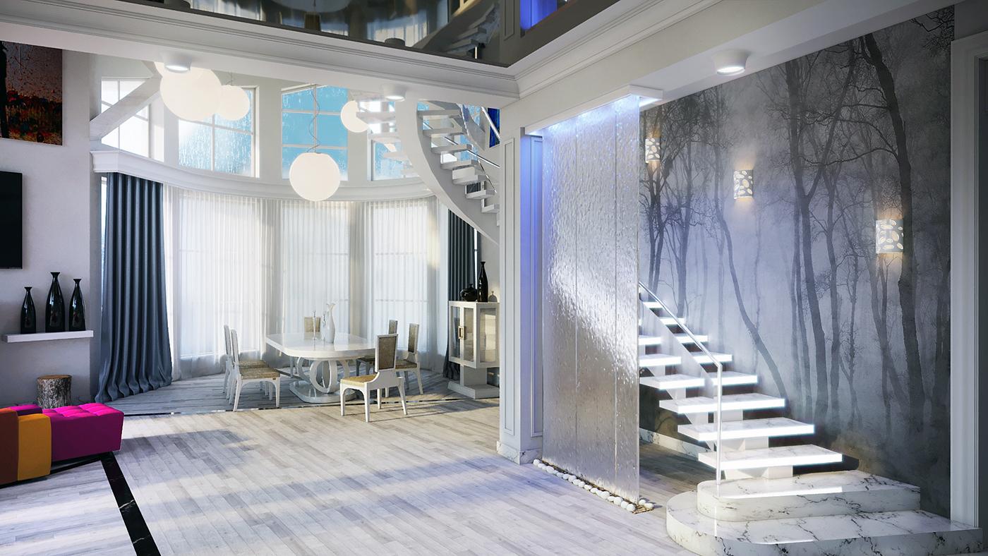 Дизайн и визуализация гостинной комнаты частного дома. фото f_1575f44e4107a5e2.jpg