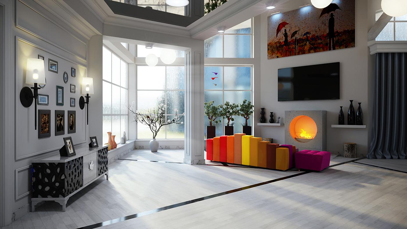 Дизайн и визуализация гостинной комнаты частного дома. фото f_9425f44e4093848e.jpg