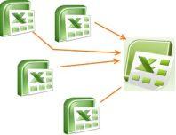 Объединение нескольких Excel файлов в один (связь нескольких Excel файлов)