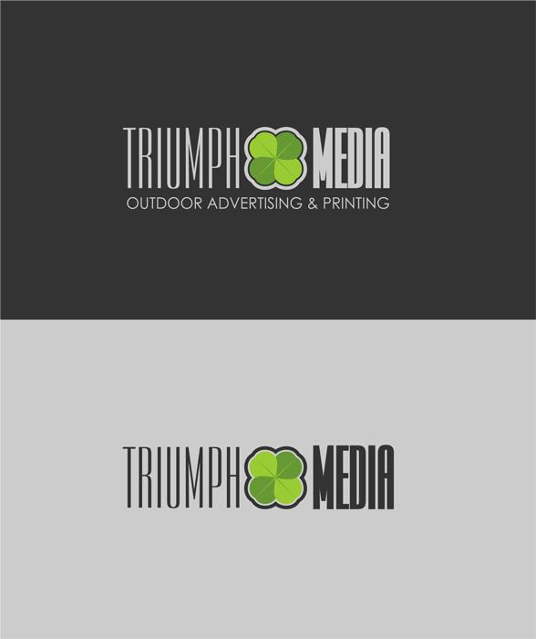 Разработка логотипа  TRIUMPH MEDIA с изображением клевера фото f_50719d970a08e.jpg