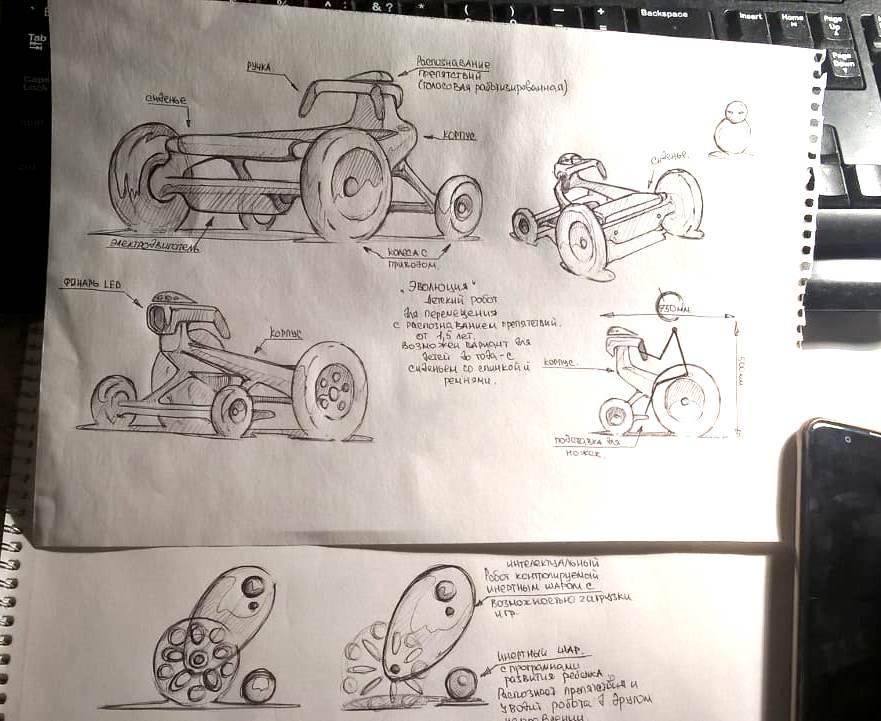 Конкурс на разработку дизайна детского домашнего робота. фото f_2195a7f35d34532c.jpg