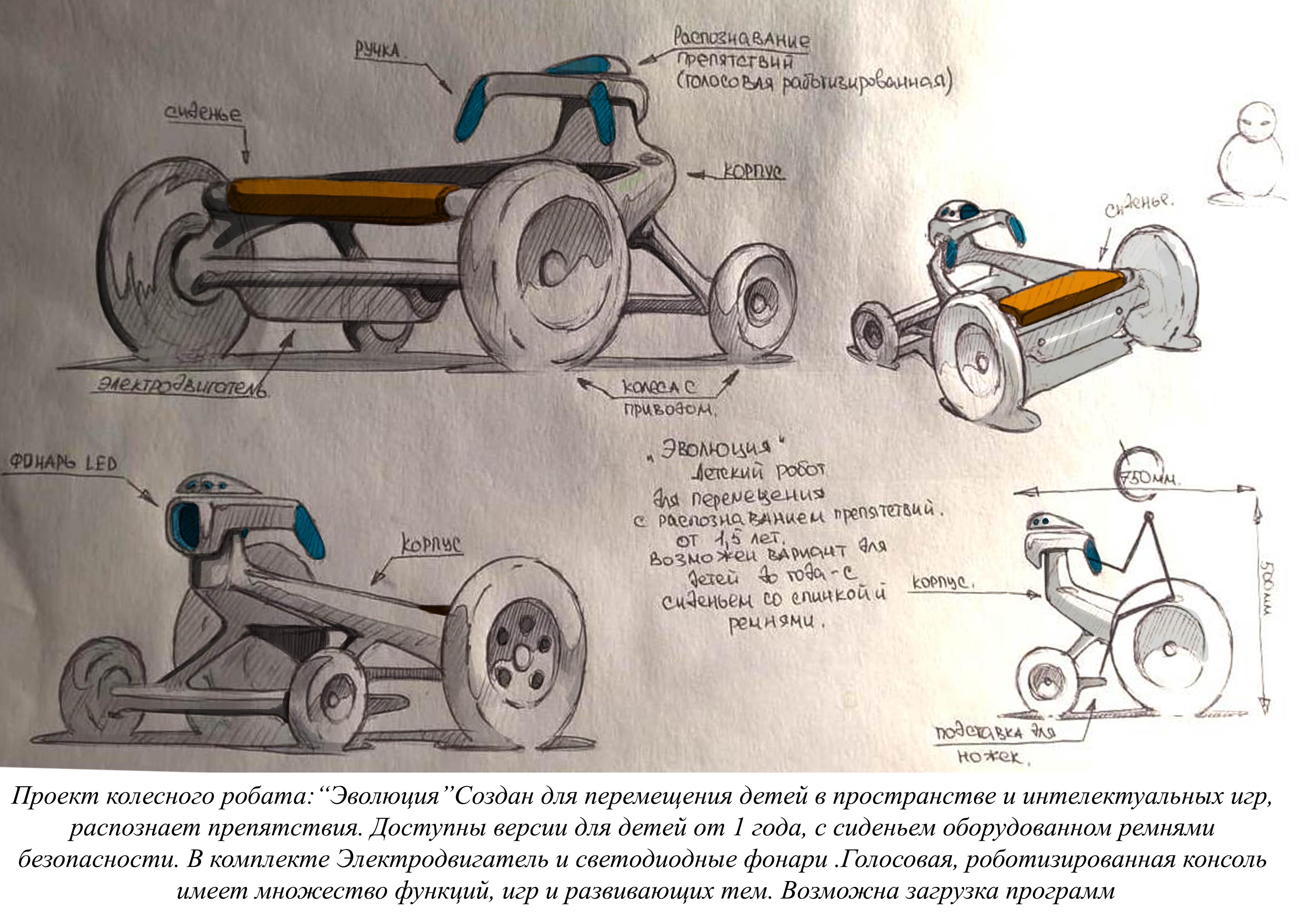 Конкурс на разработку дизайна детского домашнего робота. фото f_6555a7f35c8b68b2.jpg