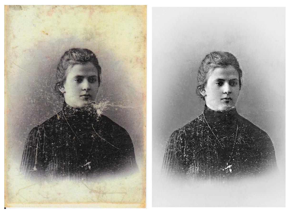 Реставрация фотографии, портрет