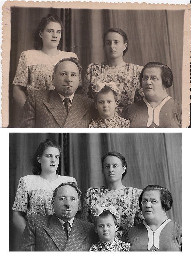 Реставрация фотографии, групповая