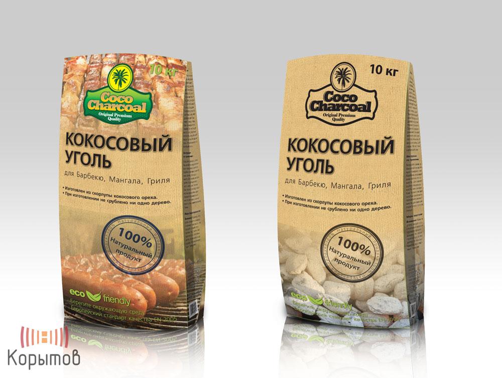 Упаковка кокосового угля