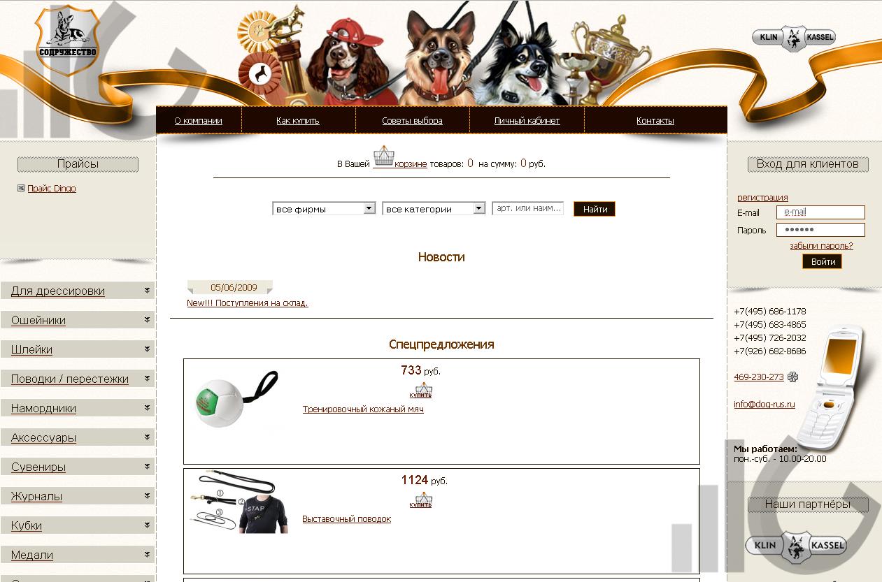 Оптимизация сайта компании Содружество