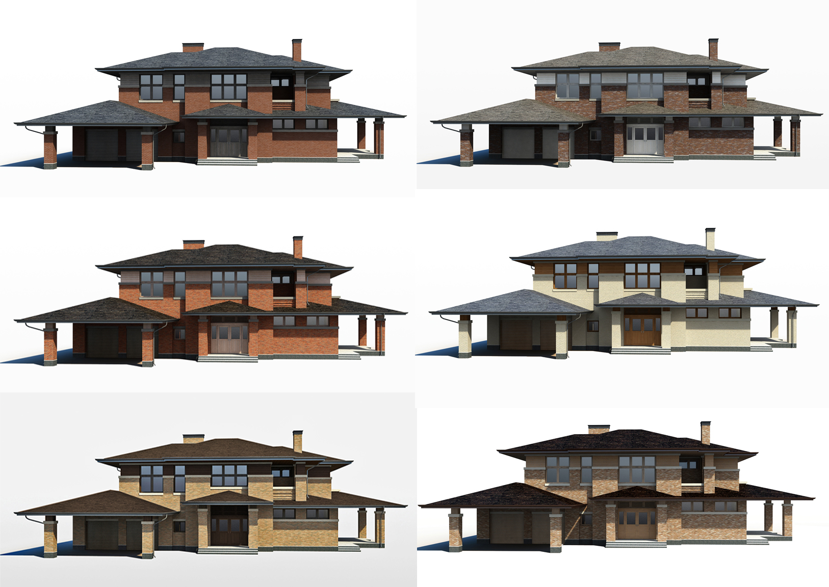 Варианты отделки фасадной части дома