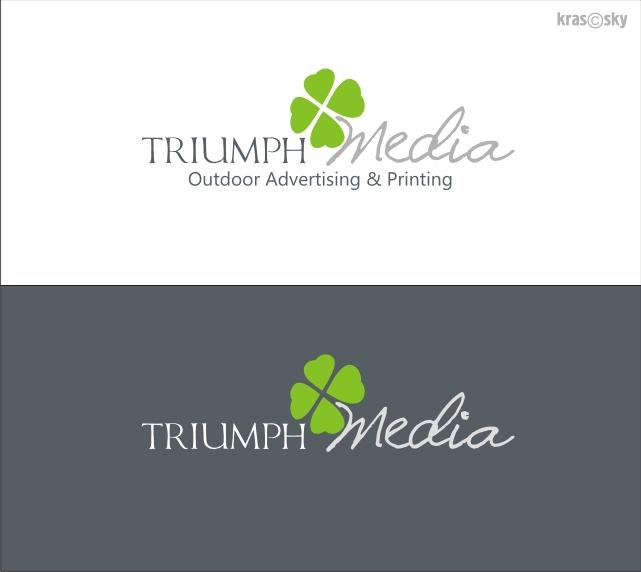 Разработка логотипа  TRIUMPH MEDIA с изображением клевера фото f_5072ae1cbae3f.jpg