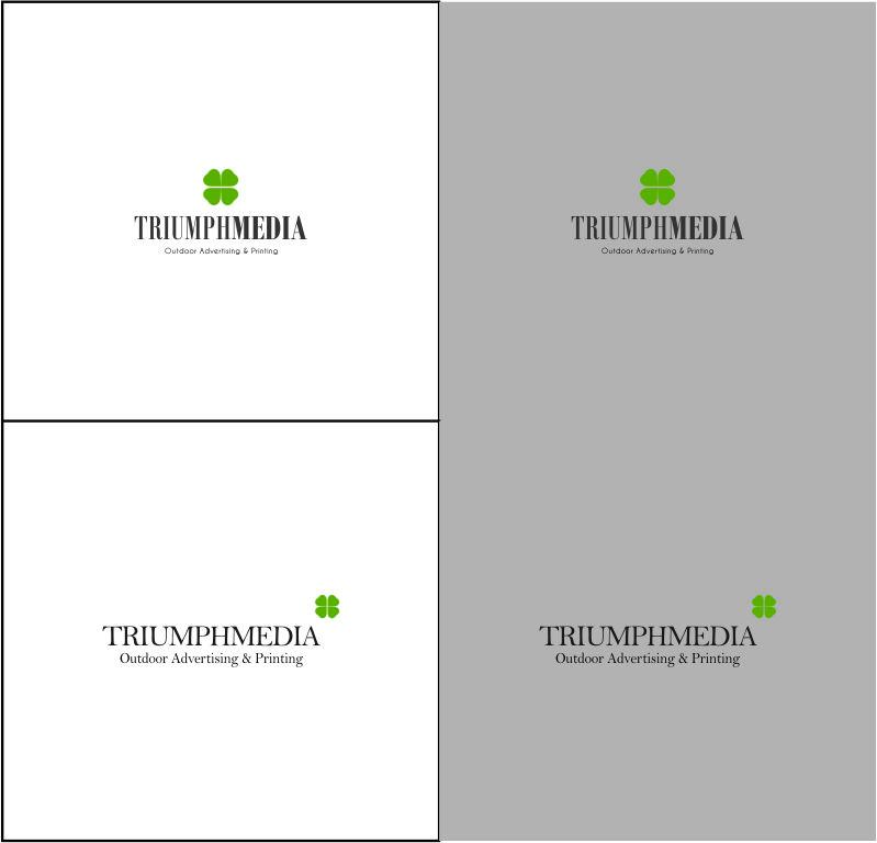 Разработка логотипа  TRIUMPH MEDIA с изображением клевера фото f_507175d1c30f8.jpg