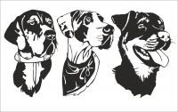 Собаки, макеты для резки из бумаги