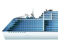 Рисунок корабля в векторе по чертежу