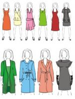 Отрисовка одежды с чертежей