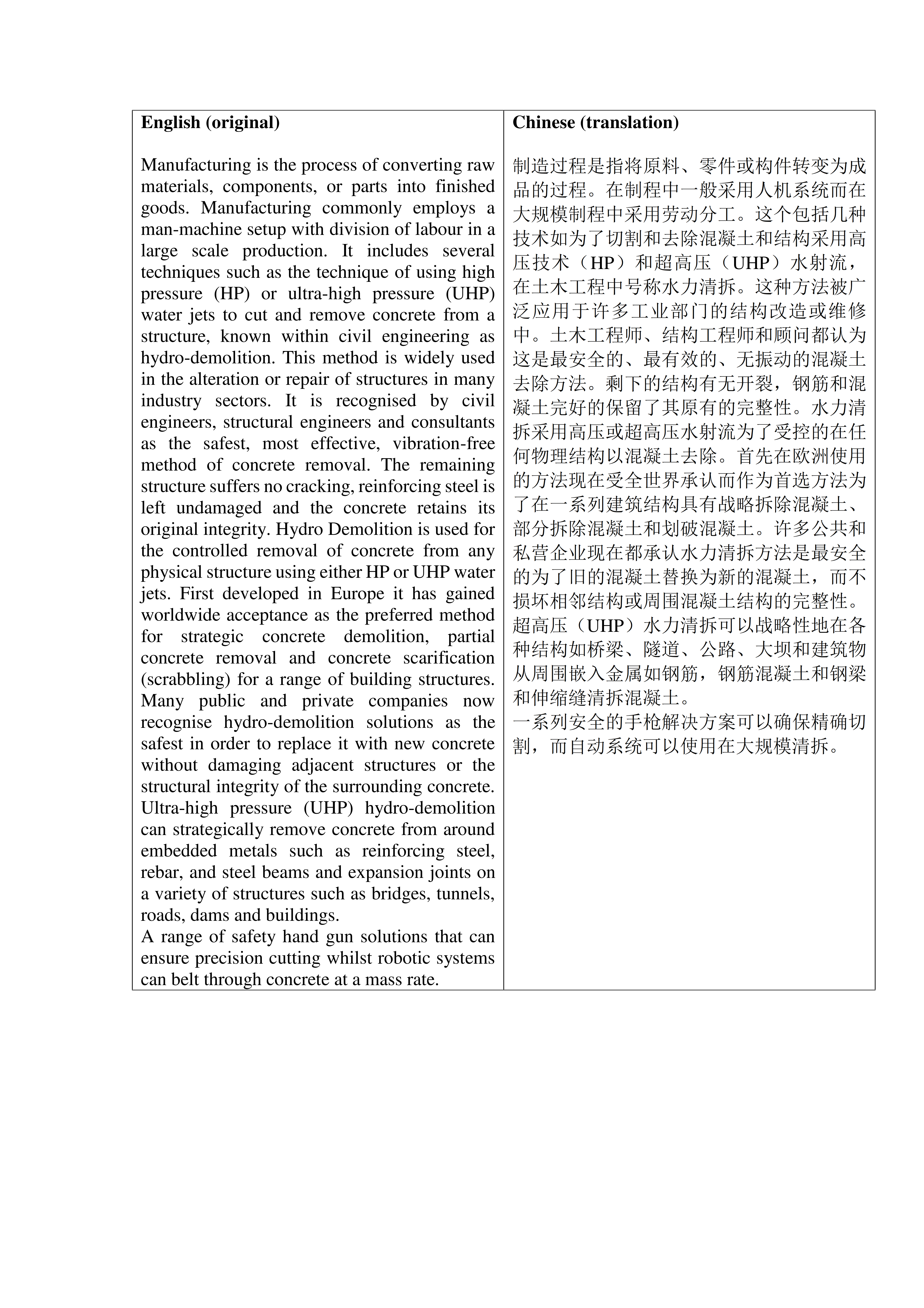 Английский - китайский: производство