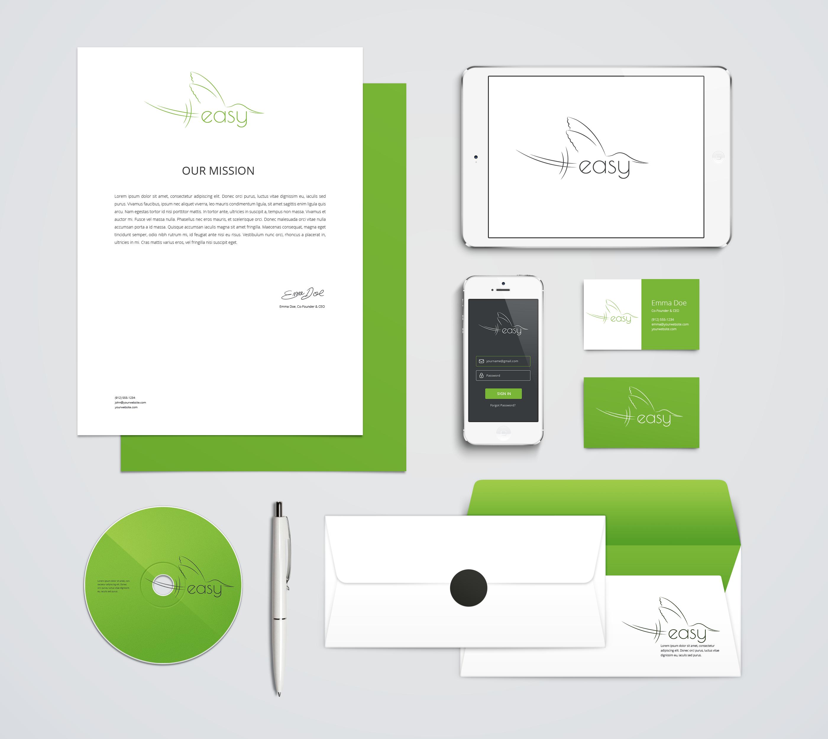 Разработка логотипа в виде хэштега #easy с зеленой колибри  фото f_3755d51404f0cc16.png