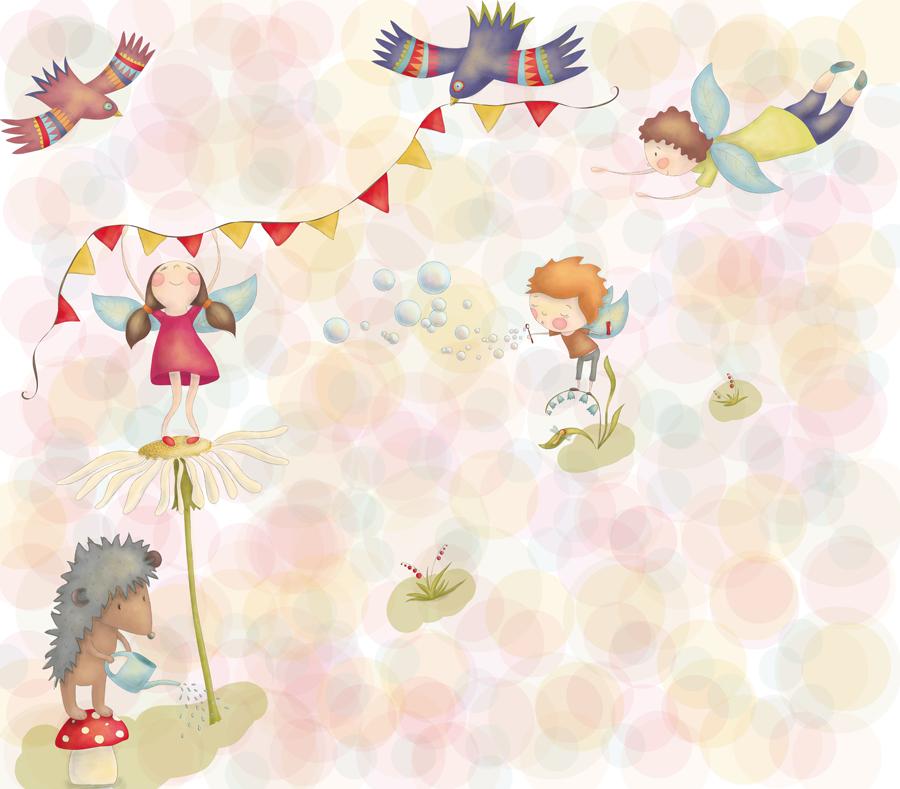 """Рисунки фей и зверушек для частного детского сада """"Baby Lux"""""""