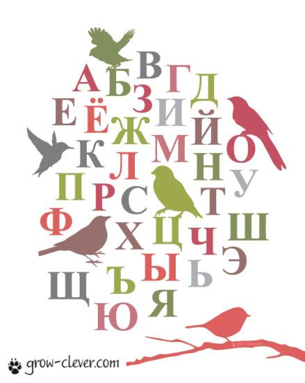 """Плакат для детской """"Русский алфавит"""" (2-й вариант)"""
