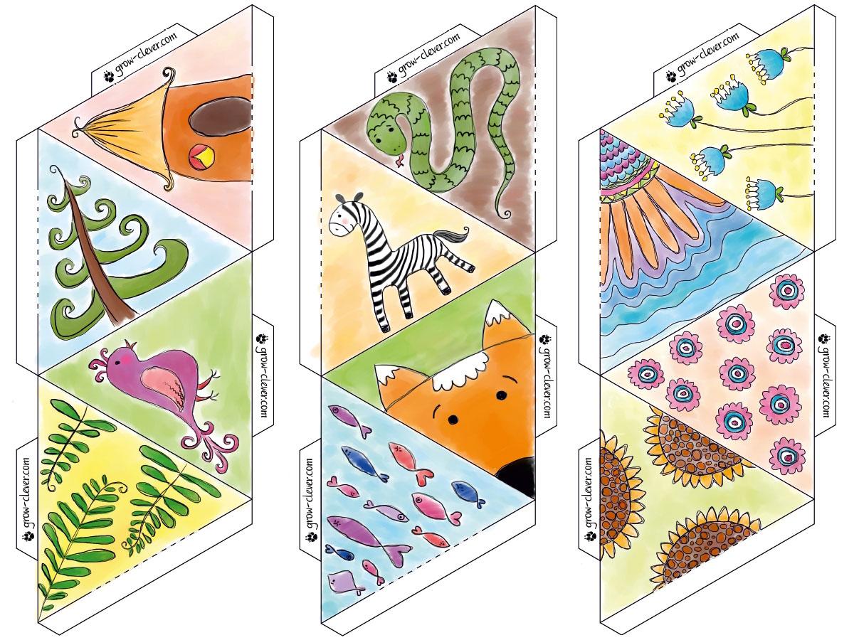 Растровые рисунки для детского мобиля