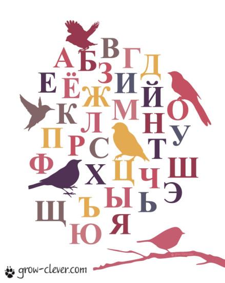 """Плакат для детской """"Русский алфавит"""""""