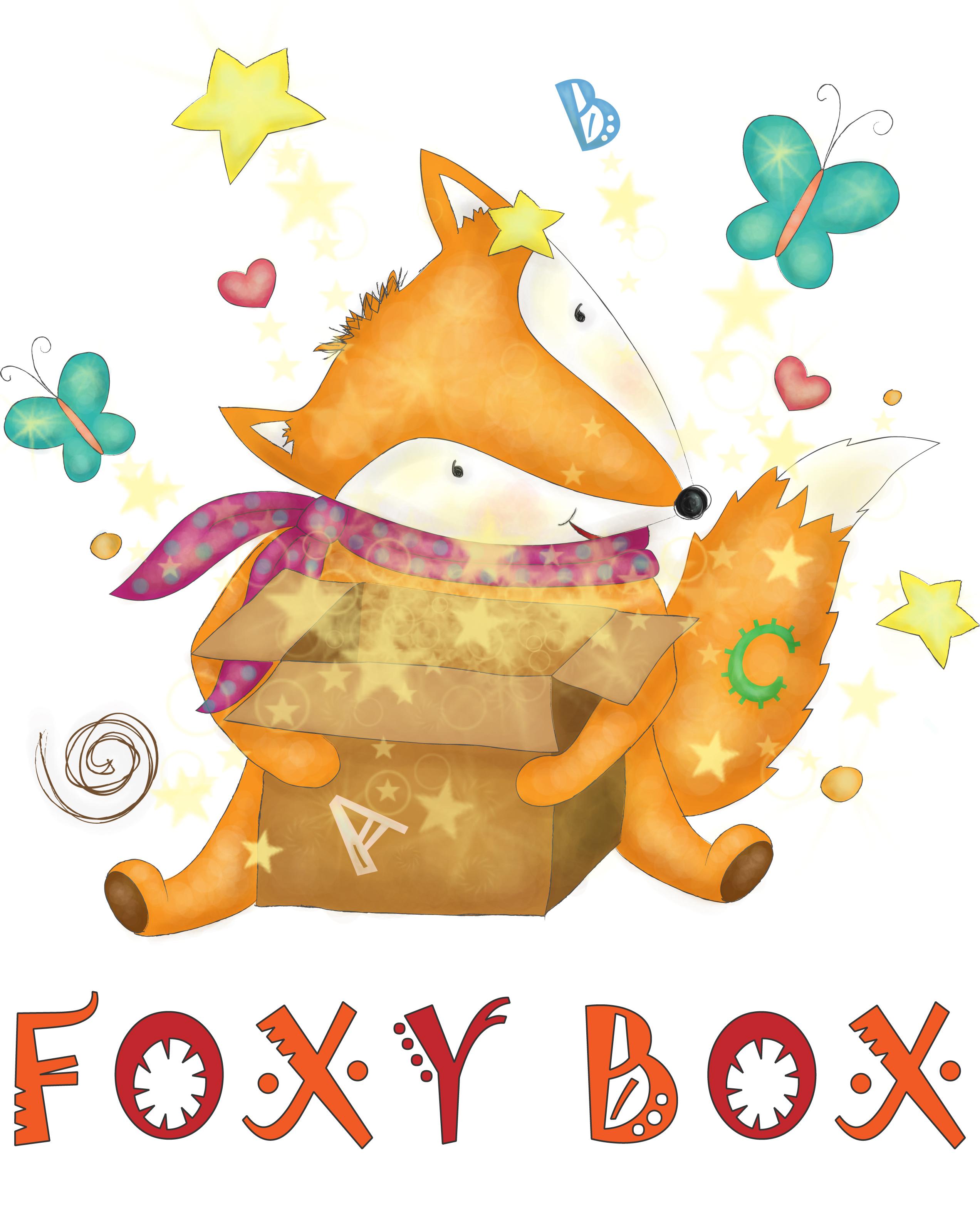 """Логотип для организаторов детских дней рождения """"Foxy Box"""""""