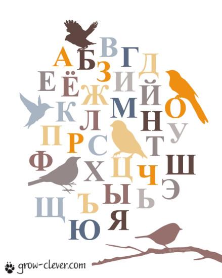 """Плакат для детской """"Русский алфавит"""" (3-й вариант)"""