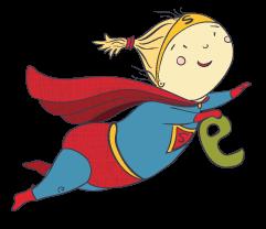 """Девочка-супермен для детского клуба """"Тотоша"""""""