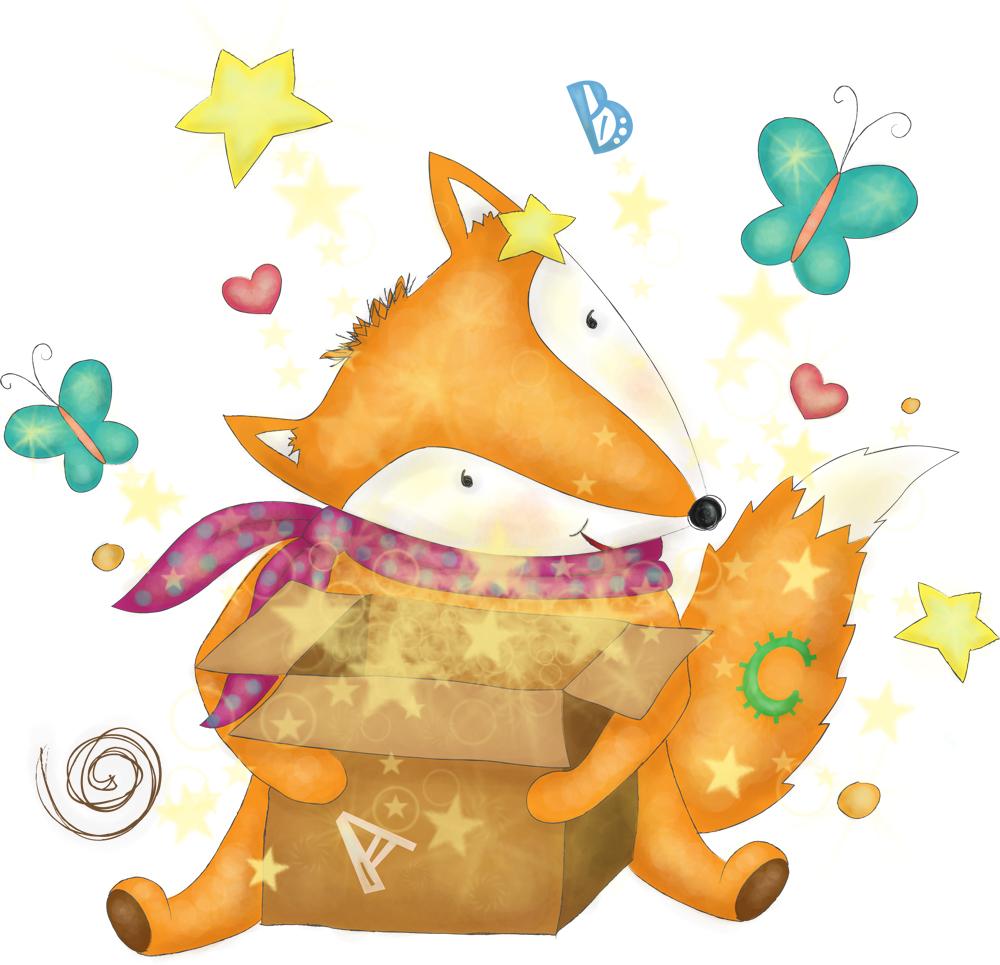 Foxy box - иллюстрация для организаторов детских праздников