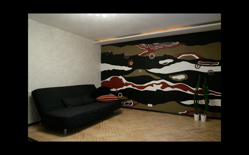 Квартира-студия МОСКВА, интерьерная живопись