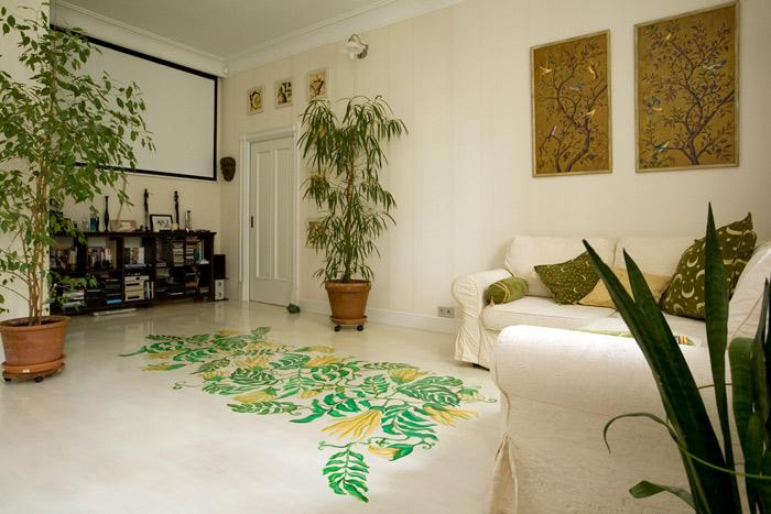 квартира 2007, интерьерная живопись - роспись пола