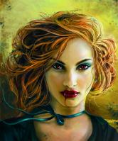 Иллюстрация на обложку книги про вампиров