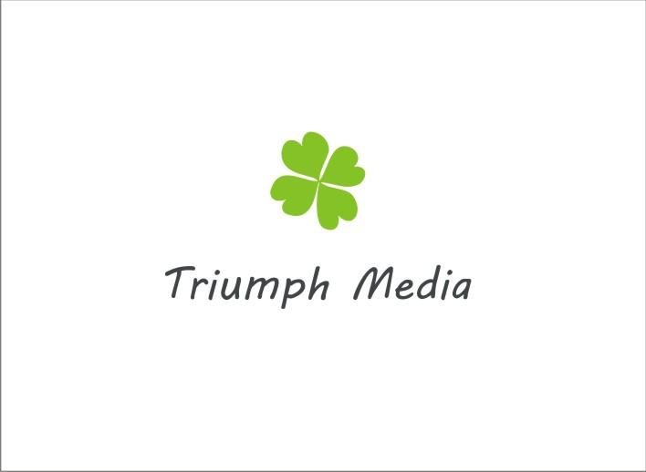 Разработка логотипа  TRIUMPH MEDIA с изображением клевера фото f_506ff2f5f074e.jpg