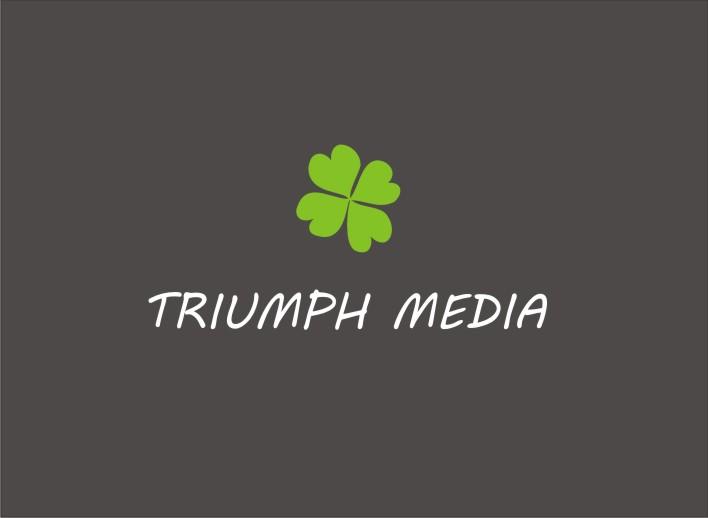 Разработка логотипа  TRIUMPH MEDIA с изображением клевера фото f_506ff47e73445.jpg
