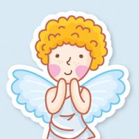 Персонажи-стикеры Ангелочек