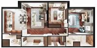 Квартира на 2-й Филевской. Общий вид + панорама 360