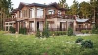 Загородный дом из красного кирпича