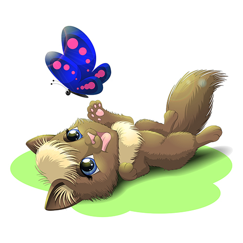 Детская иллюстрация Котенок