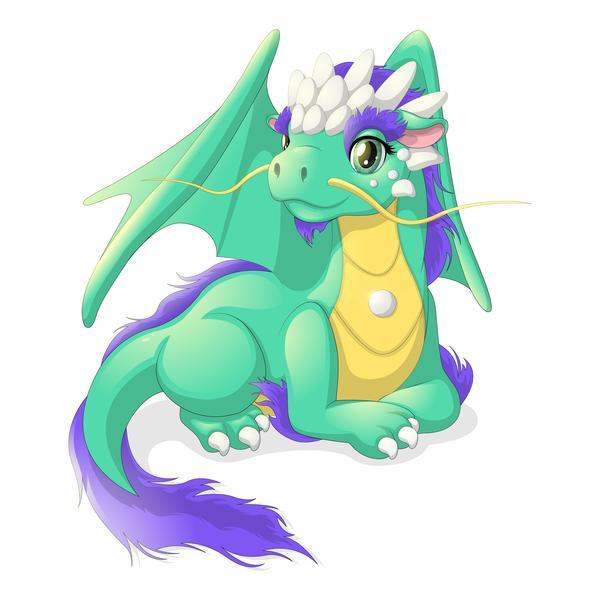 Детская иллюстрация Дракон