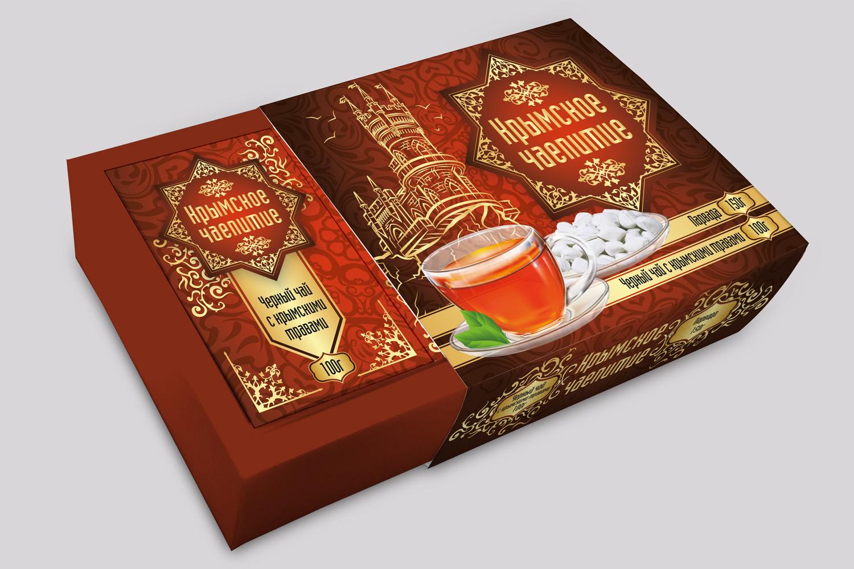 Дизайн коробки сувенирной  чай+парварда (подарочный набор) фото f_4415a5920710cad2.jpg