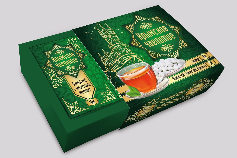 Дизайн коробки сувенирной  чай+парварда (подарочный набор) фото f_5565a59205790f2c.jpg