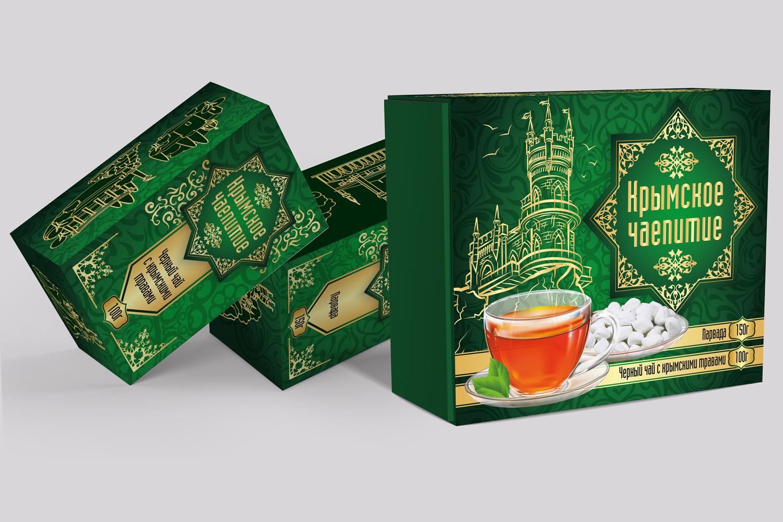 Дизайн коробки сувенирной  чай+парварда (подарочный набор) фото f_6195a59204fb524b.jpg