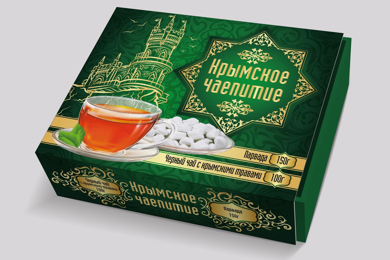 Дизайн коробки сувенирной  чай+парварда (подарочный набор) фото f_7495a59205f69116.jpg