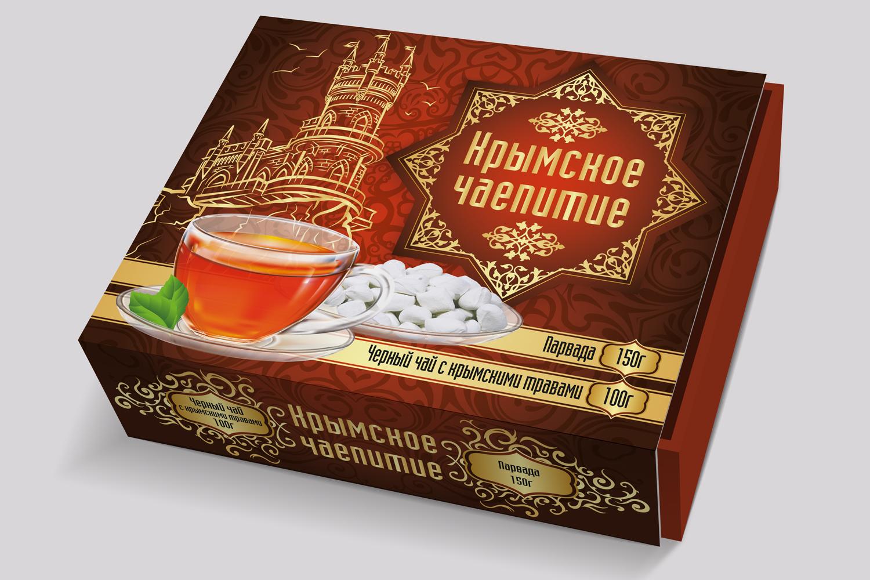 Дизайн коробки сувенирной  чай+парварда (подарочный набор) фото f_7515a592079833f7.jpg
